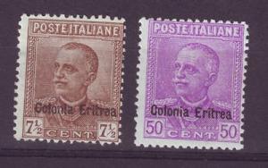 J5005 JL stamps1928-9 italy Eritrea mh hv set/2 #105-6 $104v