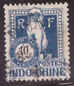 French Indo-China Scott J39 Used 1922 Angkor Wat Postage due