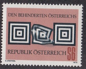 Austria # 1090, Aid to the Handicapped, NH, 1/2 Cat.