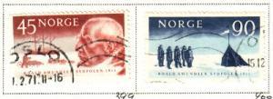 Norway Sc 399-0 1961 Amundsen S Pole stamps used