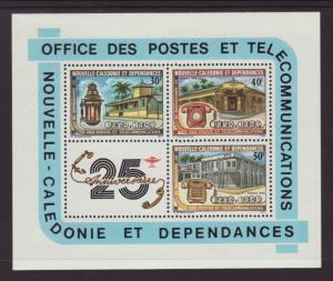 New Caledonia 488a Telephone Souvenir Sheet MNH VF