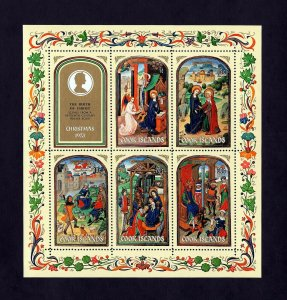 COOK ISLANDS - 1973 - CHRISTMAS - SHEPHERDS - KINGS ++ 15th CENTURY - MINT S/S!