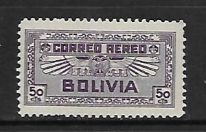BOLIVIA, C40, MINT HINGED, AIR SERVICE EMBLEM