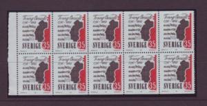 Sweden Sc775a 1968 35 ore Franz Berwald stamp bklt pane NH