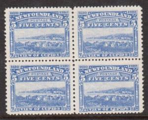 Newfoundland #91 VF Mint Block