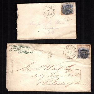 United States  114  used covers 2 diff