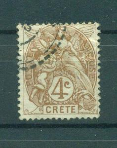 France Offices Crete sc# 4 used cat val $2.50
