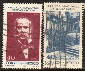 MEXICO 988-989, Cent of Prep. and Engineering School USED VF. (1228)