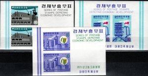 Korea #741a-743a  MNH CV $19.50 (V5489)