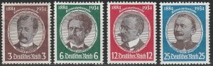 Stamp Germany Mi 540-3 Sc 432-5 1934 WWII 3rd Reich Research Peters Luderitz MNG