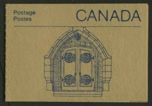Canada 1187a Booklet BK96a Ironwork Cover MNH Parliament Buildings