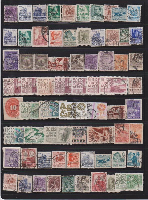LOT OF DIFFERENT STAMPS OF MEXICO USED (69) LOT#112