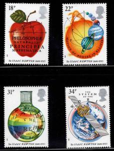Great Britain Scott 1172-1175 MNH** 1987 Sir Isaac Newton set