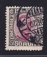 Iceland    #125  used   1920  Christian X   50a