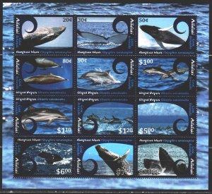 Atoll. 2012. Small sheet 836-47. Whales, killer whales, fauna. MNH.