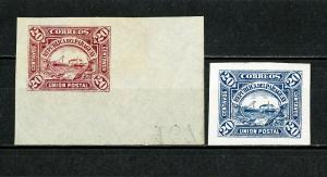Paraguay Stamps # Proof Union Post VF Red And Blue