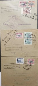 A) 1930, BOLIVIA, WINNER ZEPPELINPOST 60 A + B + C SHORT FP 1418. MAY SOUTH AMER