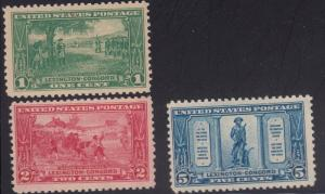 617-619 set VF original gum lightly hinged with nice color cv $ 21 ! see pic !