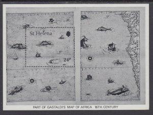 St Helena 352 Map Souvenir Sheet MNH VF