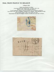 FRANCE Early LETTER/COVER 1831 fine used item Reims - La Haye Belgium