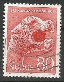 NORWAY, 1972 used 80o, Dragon's Head. Scott 588
