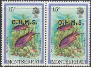 Montserrat, #O47 Used Pair  From 1981