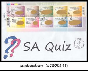 SOUTH AFRICA - 2010 SOUTH AFRICAN QUIZ - 10V - FDC