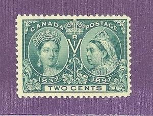 Canada #52 Mint F-VF NH bright  green shade