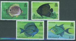 Montserrat SC#381-4 Tropical Fish, 30c 40c 55c $1.50 MH