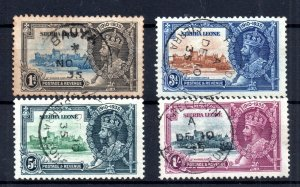 Sierra Leone KGV 1935 Silver Jubilee fine used #181-184 WS15821