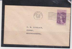 US Scott # 774 3¢ Boulder Dam 1935 FDC Boulder Colorado Cancel Cover No Cachet