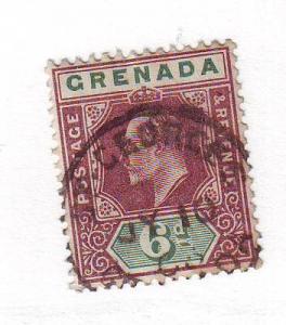 Grenada Sc 53 1902 6d Edward VII stamp used