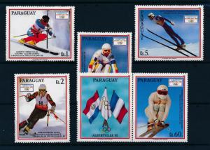 [55507] Paraguay 1990 Olympic games Albertville Skiing MNH