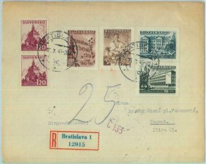 89009 - SLOVENIA - POSTAL HISTORY - REGISTERED FDC COVER to Croatia - M # 128/31