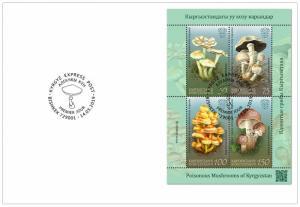 KYRGYZSTAN (KEP) / 2019 - (FDC2) Poisonous Mushrooms, MNH