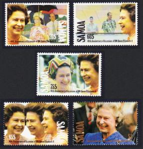 Samoa 40th Anniversary of Queen Elizabeth II's Accession 5v SG#876-880