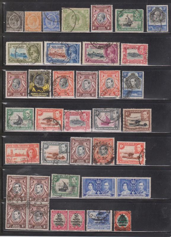 KENYA UGANDA & TANZANIA - Collection Of Used - Some With Hinge Thins - CV $44.00