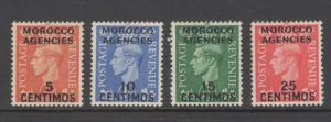 Great Britain Offices Morocco 1951 Overprints Scott # 99 - 102 MH