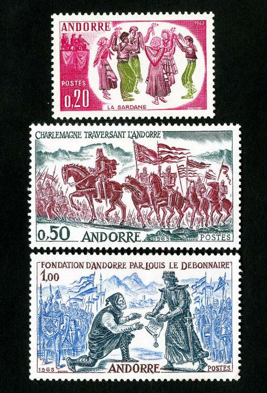 Andorra Stamps # 155-7 VF OG LH Scott Value $27.50