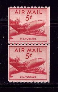 U.S. C37 MNH 1948 Coil Line Pair