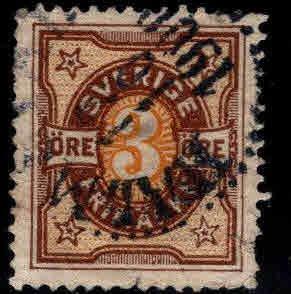SWEDEN Scott 54 Used stamp