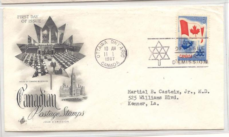 Canada FDC 1967 (cover letter)
