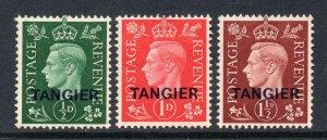 Morocco Agencies Tangier 1937 KGVI set SG 245-247 mint CV £35