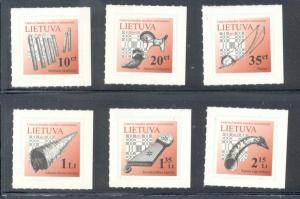 Lithuania Sc 961-6 2012 Musical Instrument stamp set mint NH