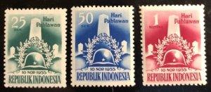 Indonesia Scott#418-420 Unused F/VF H Cat. $13.75