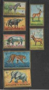 BURUNDI #C1-C7 1964 ANIMALS MINT VF NH O.G CTO