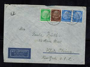 1940 Hamburg Germany Cover to West Plains NY USA Paula Riedle