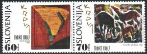 Slovenia. 1995. 121-22. Franz Kral's paintings. MNH.