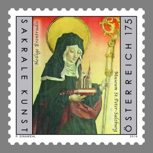 Stamps Austria 2018 - Saint Erentrude.