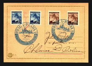 Bohemia Morazia 1940 Prag Event Card  - Z14161